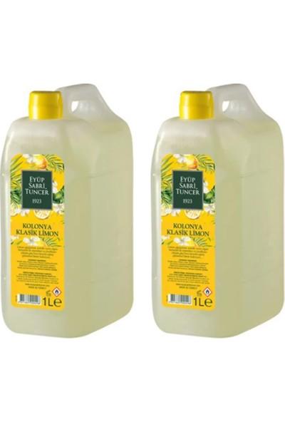 Eyüp Sabri Tuncer 1 lt Limon Kolonyası 80 Derece - 2'li Set