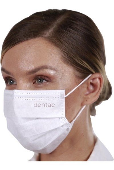 Dentac T-Mask 3 Katlı Telli Cerrahi Yüz Maskesi Rengini Seç 100 Adet (2X50'LI Kutu)