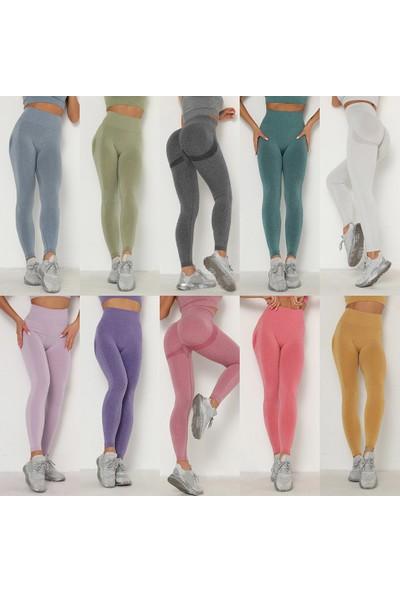 Buyfun Kadın Yoga Tayt Uzun Pantolon Çabuk Kuruyan