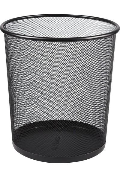 Linea Metal Delikli Çöp Kovası Siyah