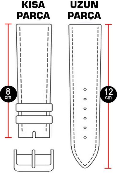 chrono Koyu Kahverengi Deri Saat Kordonu 22mm