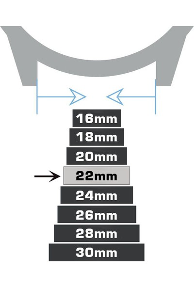 Chrono Siyah Hakiki Deri Saat Kordonu 22mm