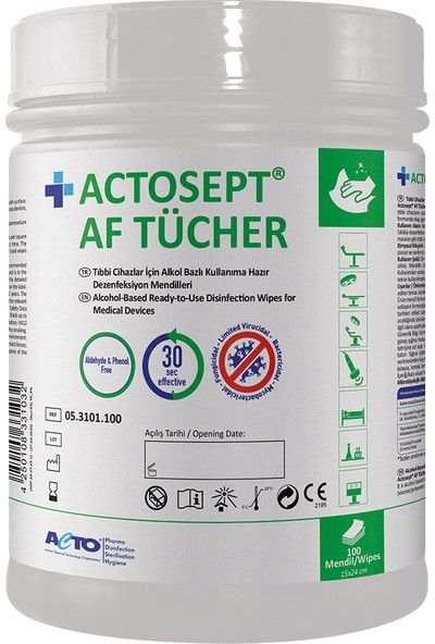 Actosept® Af Tücher 100 Pcs Dezenfeksiyon Mendili