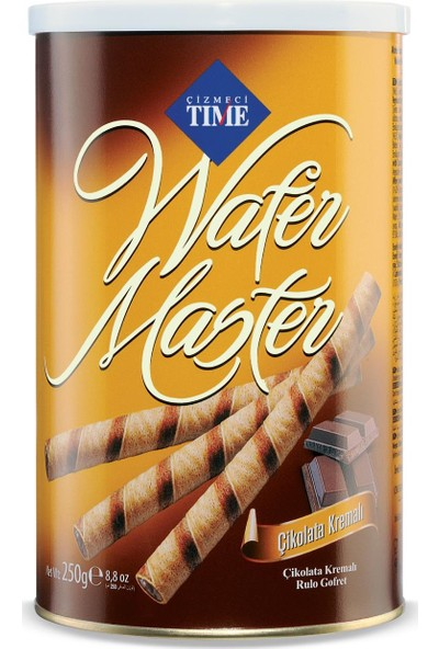 Çizmeci Time Wafer Master 250 gr Çikolatalı 12 'li Paket