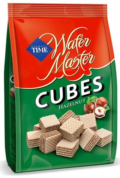 Çizmeci Time Wafer Master Cubes Fındıklı 200 gr Poşet 18 'li Paket