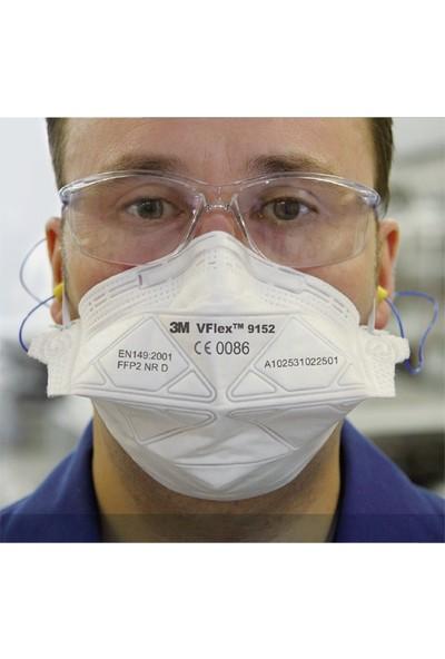 3m Vflex 9152E FFP2 Ventilsiz Toz ve Sis Solunum Koruyucu Maske 50 Adet