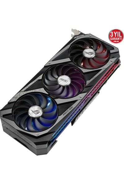 Asus GeForce ROG Strix RTX 3070 8GB OC 256Bit GDDR6 (DX12) PCI-Express 4.0 Ekran Kartı (ROG-STRIX-RTX3070-O8G-GAMING)