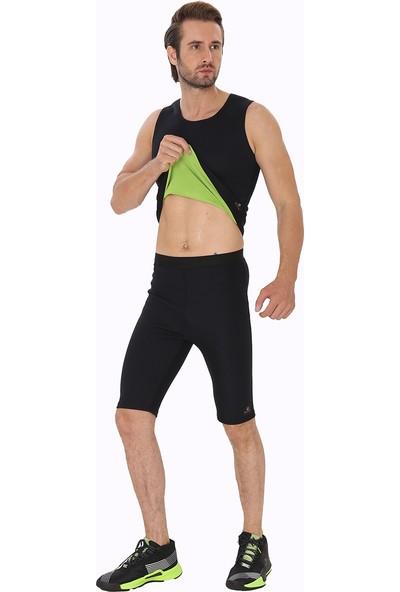 Giyincel Erkek Neopren Termal Spor Ve Terletme Atleti Ve Kısa Tayt Set