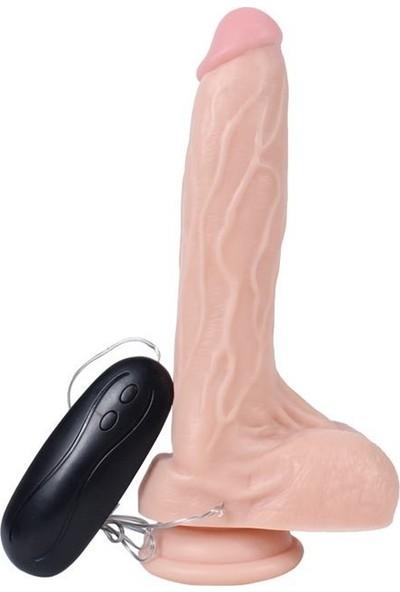 Lilitu Shop 20,5 cm Gerçekçi Titreşimli Dildo Vibratör Penis - Holy Dragon