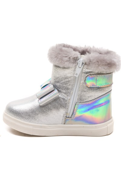 Minipicco Kız Çocuk Gümüş Çizme