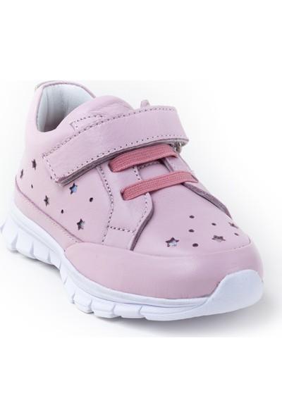 Minipicco Kız Çocuk Pembe Deri Ayakkabı