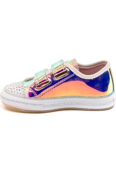 Minipicco Kız Çocuk Pembe Hologram Spor Ayakkabı