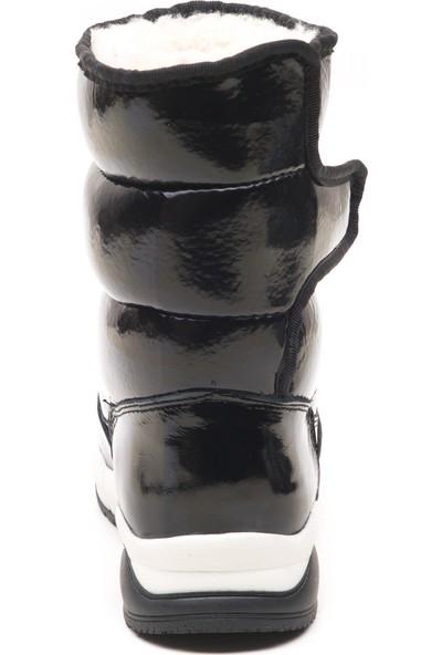 Minipicco Kız Çocuk Rugan Siyah Deri Bot