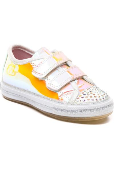 Minipicco Kız Çocuk Sarı Hologram Spor Ayakkabı