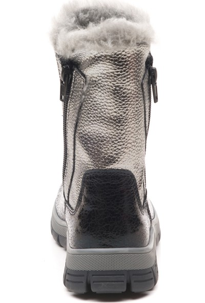 Minipicco Kız Çocuk Siyah Deri Çizme
