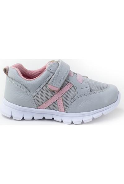 Minipicco Çocuk Antrasit Deri Spor Ayakkabı