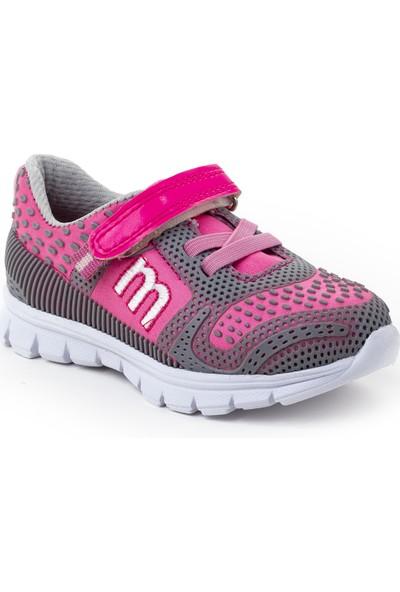 Minipicco Çocuk Gri Pembe Spor Ayakkabı