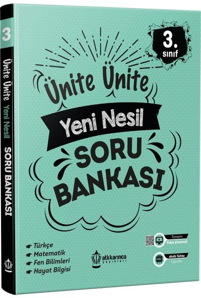 Atlı Karınca Yayıncılık Ünite Ünite 3. Sınıf Yeni Nesil Soru Bankası