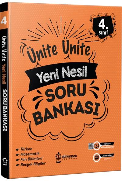 Atlı Karınca Yayıncılık Ünite Ünite 4. Sınıf Yeni Nesil Soru Bankası