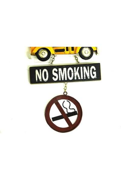 Evim Tatlı Evim Dekoratif Metal Okul Otobüsü Kapı ve Duvar Süsü No Smoking