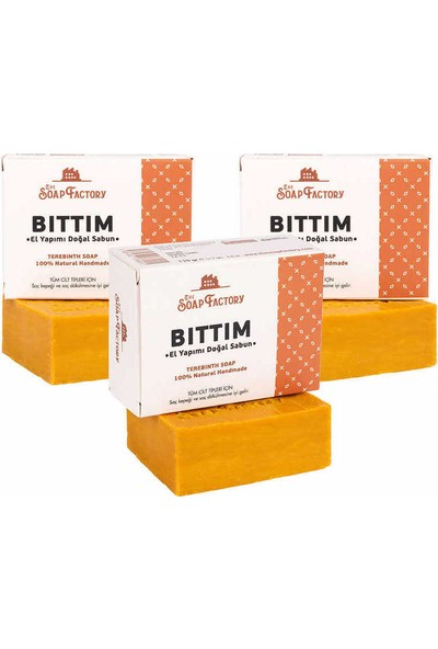 The Soap Factory El Yapımı Bitkisel Bıttım Sabunu 3 x 110 gr (Toplam 3 Adet)