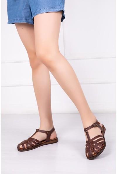 Deripabuc Deri Kadın Deri Sandalet DP22-0067