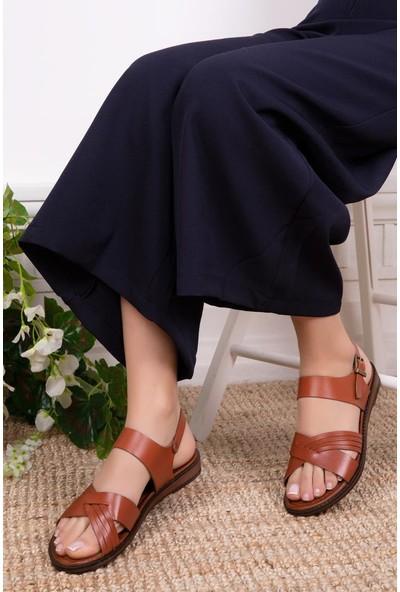 Deripabuc Deri Kadın Deri Sandalet DP-0080