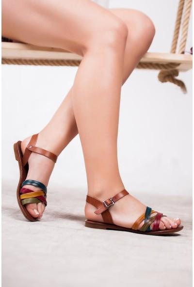 Deripabuc Deri Kadın Deri Sandalet RMA-0013