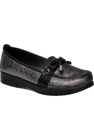 Wanetti Platin Taşlı Tabanlı Anne Ayakkabısı