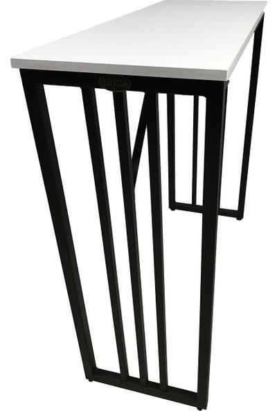 İrem Bar Tipi Masa Bar Masası Metal Ayaklı Masa-Beyaz