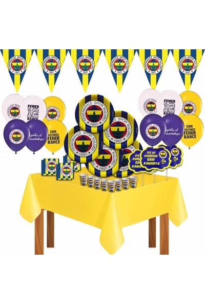 Disney Fenerbahçe Taraftar Doğum Günü Parti Malzemeleri Süsleri Seti 16 Kişilik