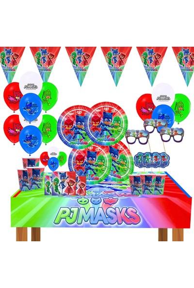 Bay Cimri Pijamaske Pijamaskeliler Doğum Günü Parti Seti Pj Masks Süsleme Parti Malzemeleri Set 8 Kişilik