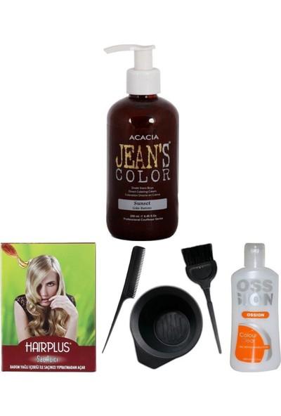 Acacia Jeans Color Saç Boyası Gün Batımı 250ml, Saç Açıcı, Boya Temizleyici ve Boya Seti