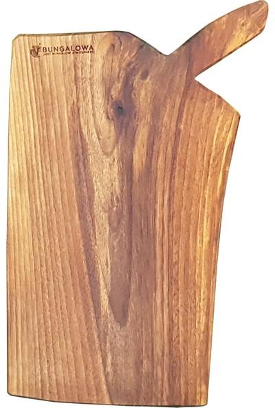 Bungalowa® Kesme Tahtası – Ceviz - El Yapımı Naturel-Orta