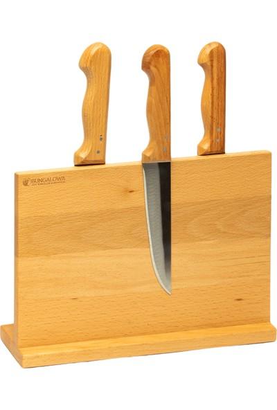 Bungalowa® Magnetli Bıçak Tutucu - Kayın