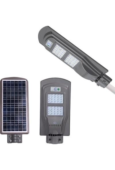 Twinix Güneş Enerjili Solar 40W Sokak Aydınlatma Sürekli Yanma Mod Hareket Sensörlü Dış Mekan Aydınlatması Su Geçirmez