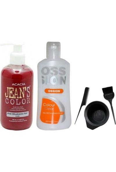 Acacia Jeans Color Pembe 250ml ve Boya Temizleyici ve Boya Seti