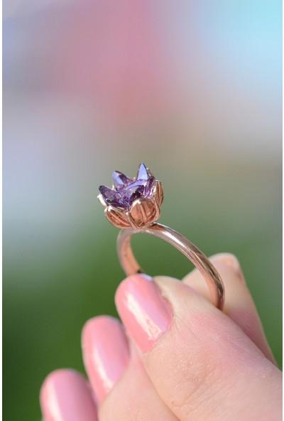 Lotus Gümüş Lotus Çiçeği 925 Ayar Gümüş Kadın Yüzük