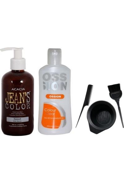Acacia Jeans Color Saç Boyası Gün Batımı 250ml ve Boya Temizleyici ve Boya Seti
