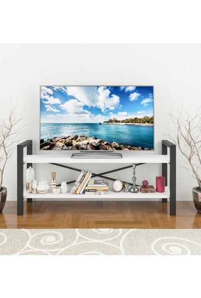 Wood House Buse TV Sehpası - BEYAZ