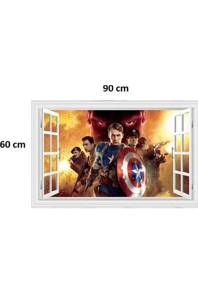 Kt Decoration Avengers Yenilmezler Süper Kahramanlar Çocuk ve Genç Odası 3D Pvc Sticker Çıkartma