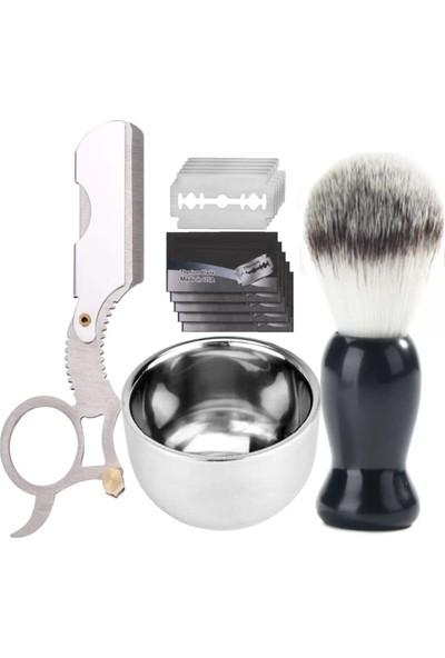 Qualis Shave U4 Ustura + Fırça + Kase + 5 Adet Jilet