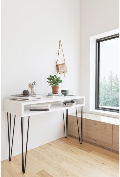 Wood House Aleyna Dresuar - BEYAZ