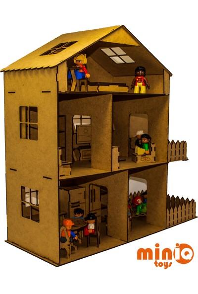 Miniq Toys Ahşap Oyun Evi Seti