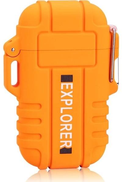 Explorer Electric Lighter Usb Çakmak - Alevsiz Dumansız ve Şarj Edilebilir