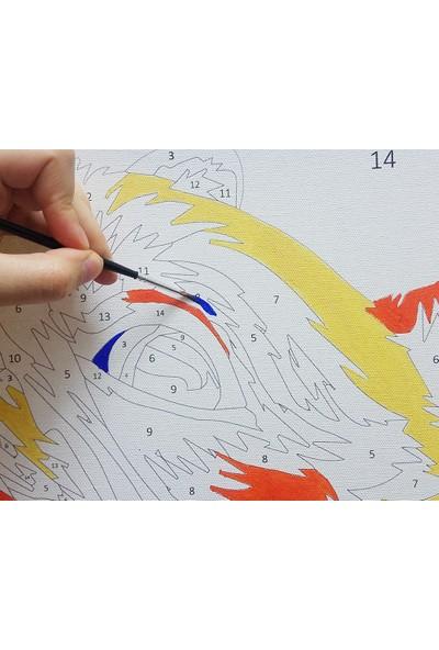 Doruk Baskı Sayılarla Boyama Seti Keman 40 x 50 cm