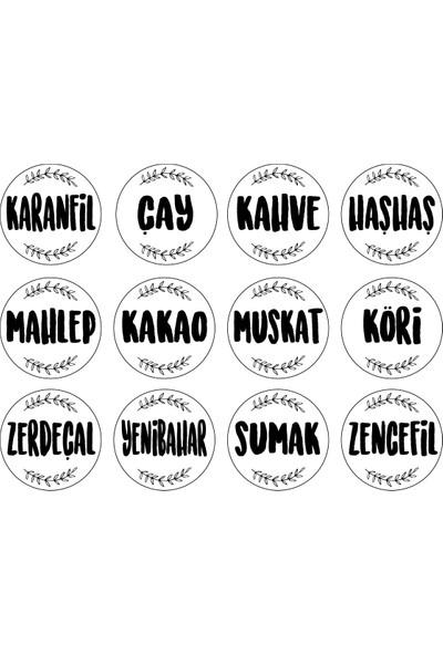 Sıcak Atölye Kavanoz Etiketi 24'li Baharat Seti