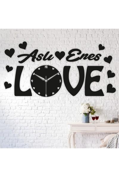Onca Love Kişiye Özel Özel Ahşap Duvar Saati