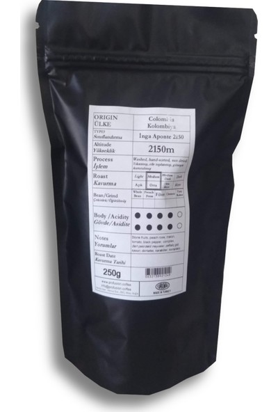 Profusion Coffee Kolombiya (Colombia) Inga Aponte Kahve 250 gr