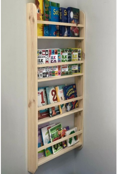 ION Montessori 4 Raflı Ahşap Kitaplık